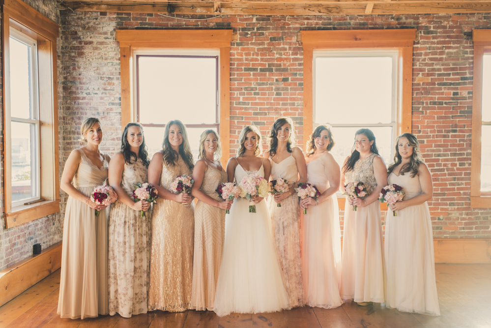 Bride and Bridesmaids Mix and Match Dresses