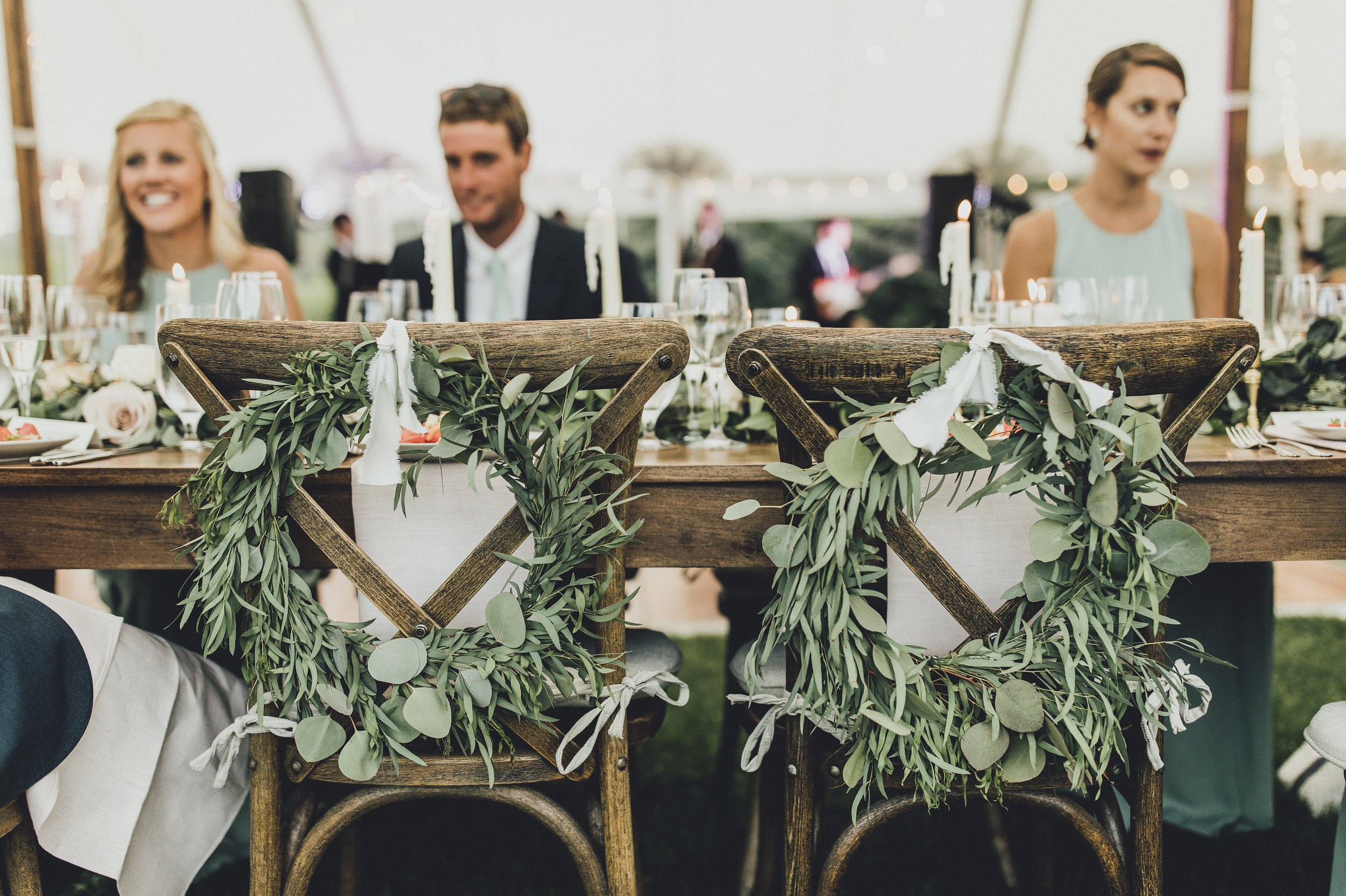 Wreaths for Bride and Groom