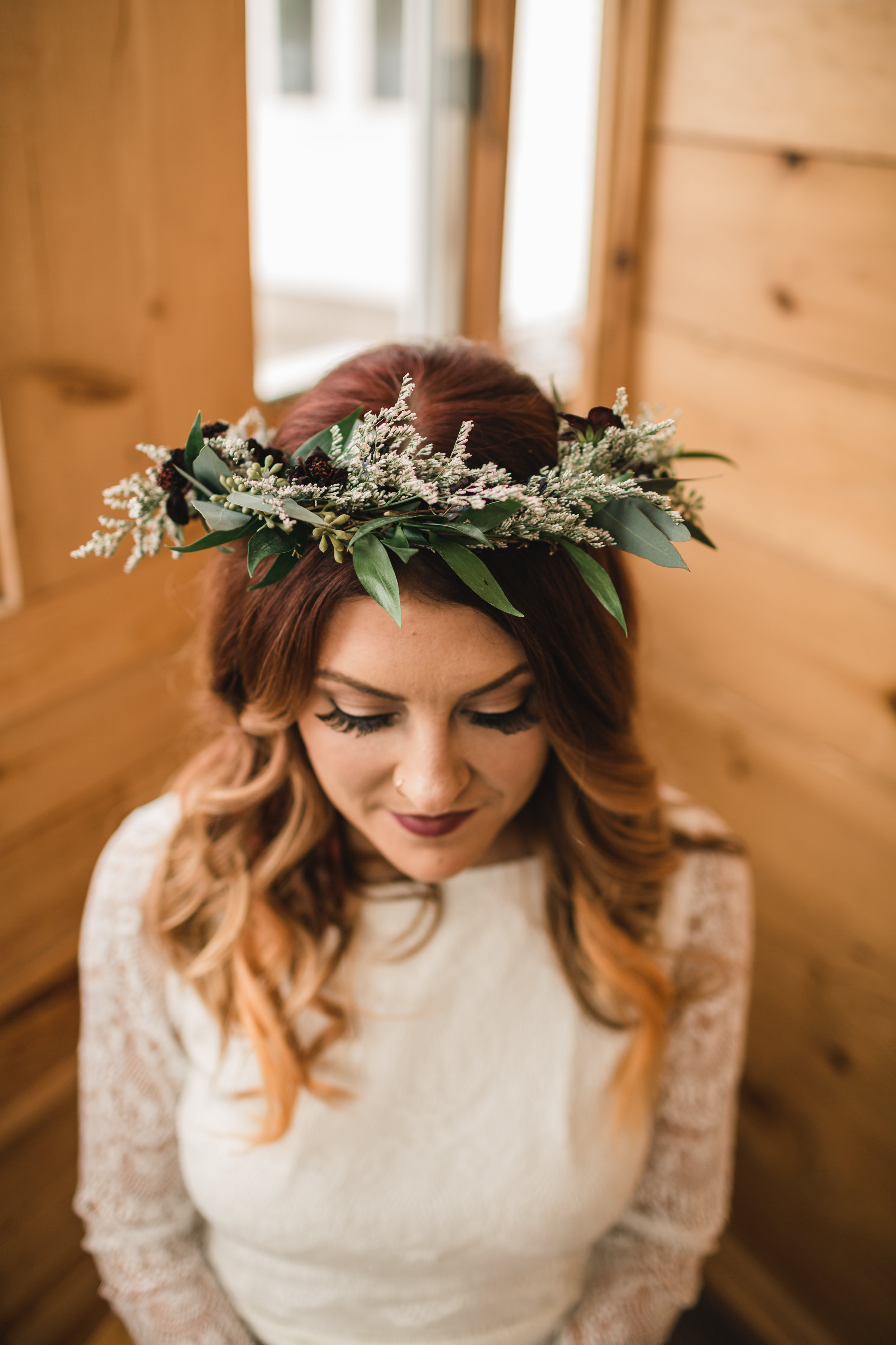 Floral Crown for Fall Wedding