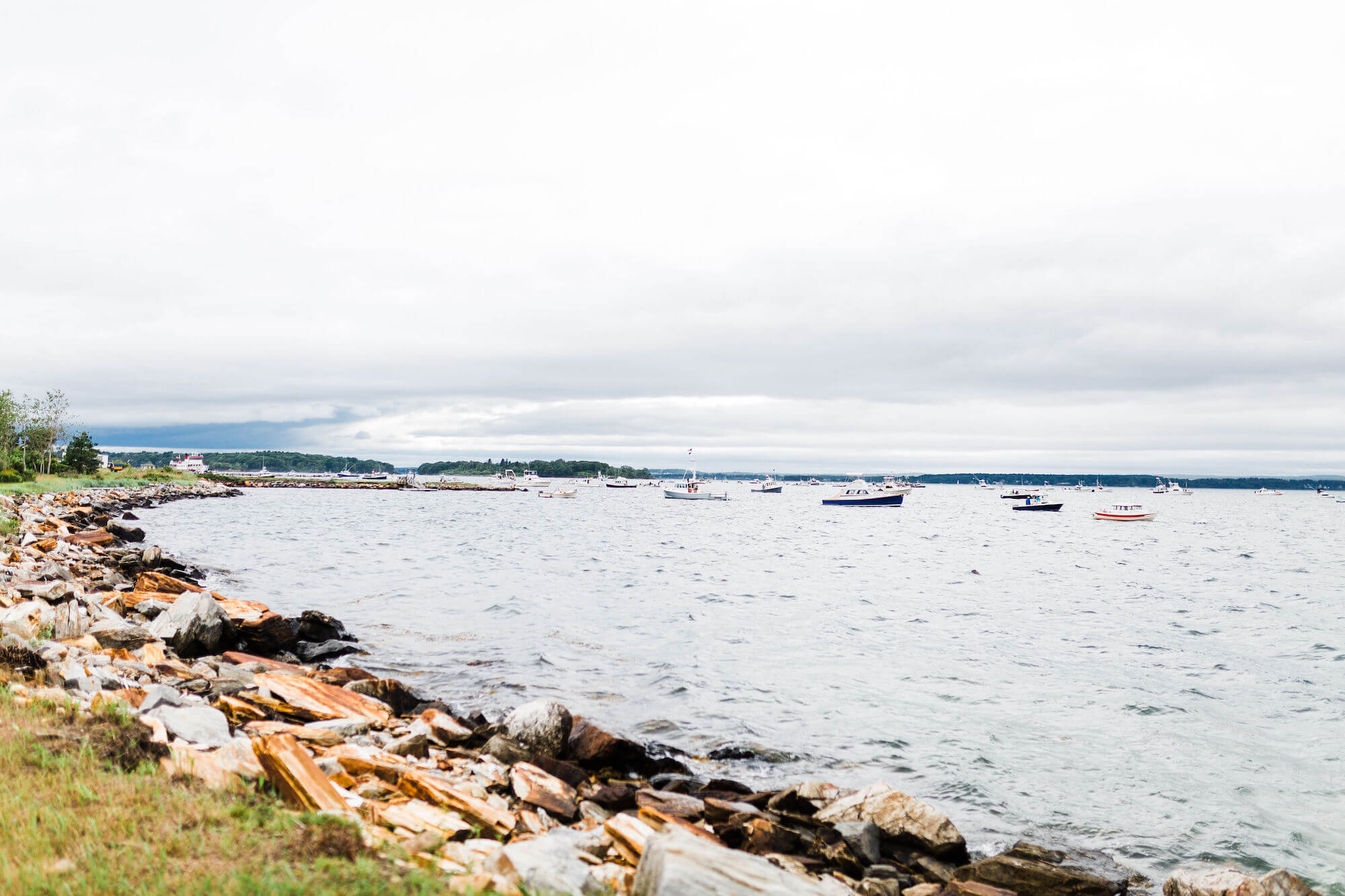 Casco bay island wedding -