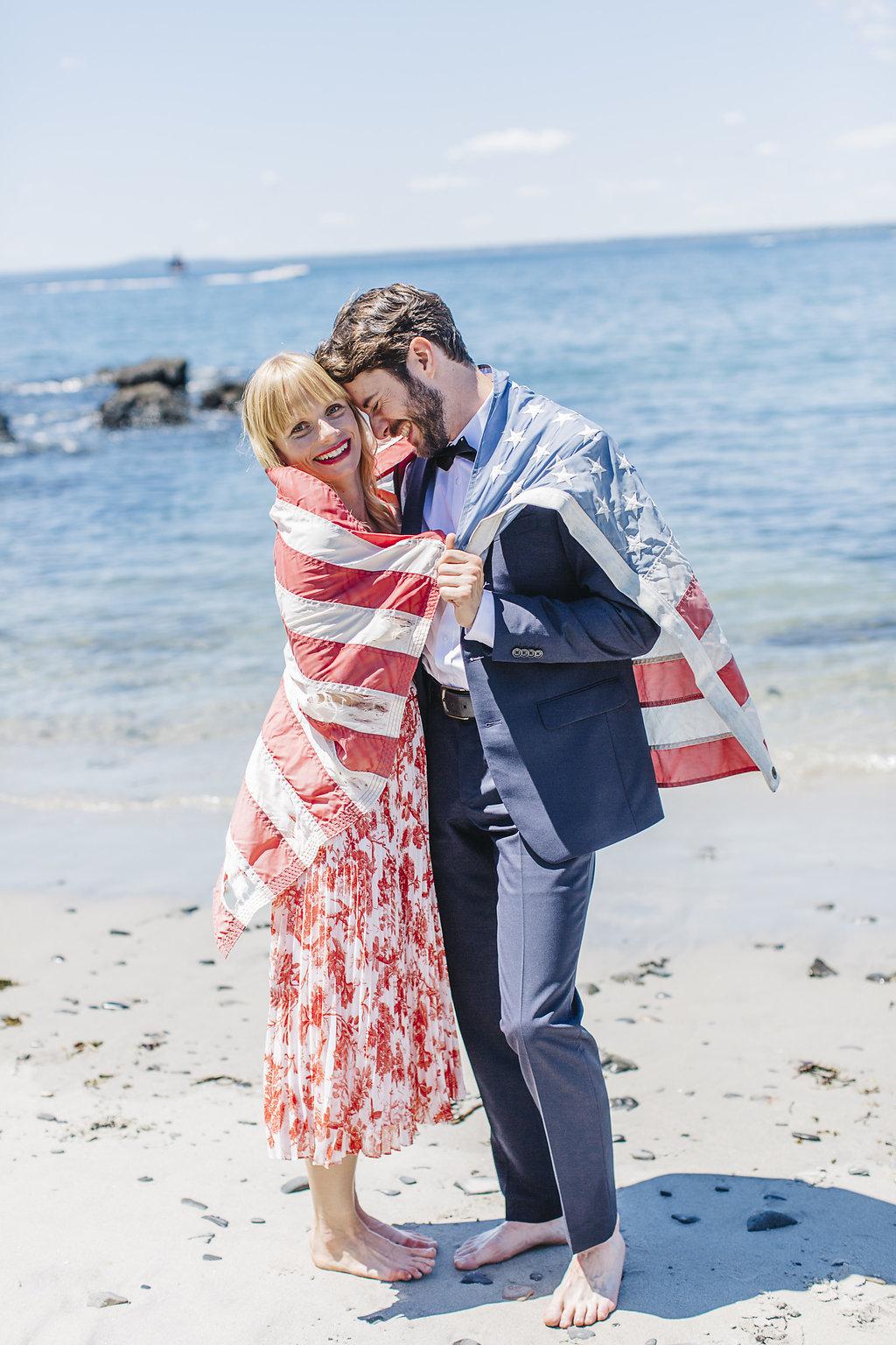 beach wedding fourth of july
