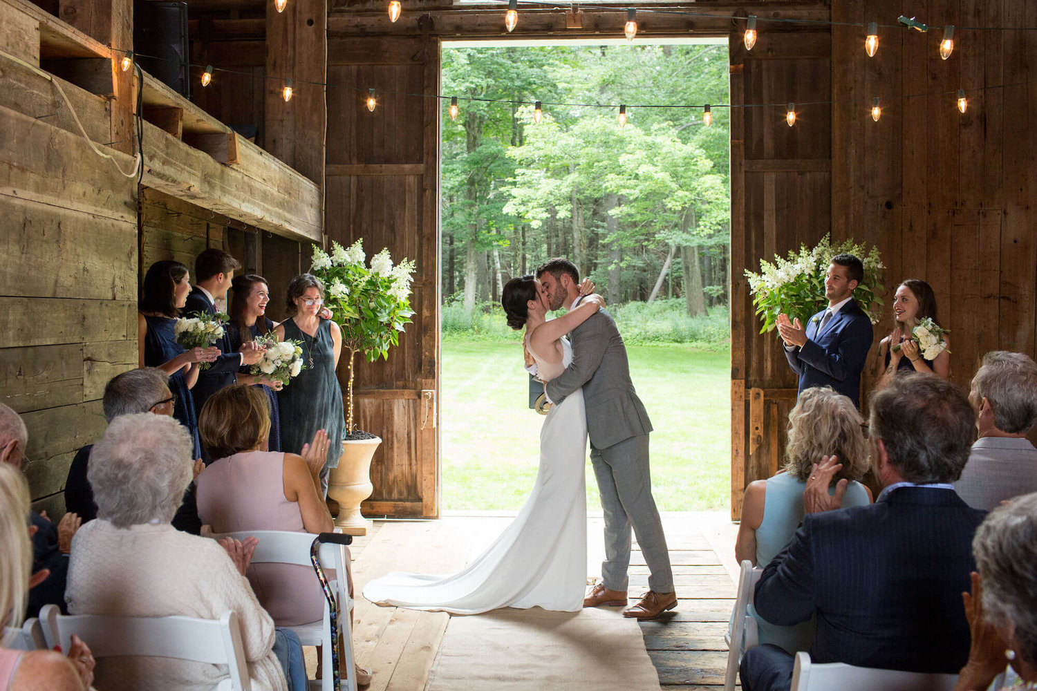 a backyard barn wedding -