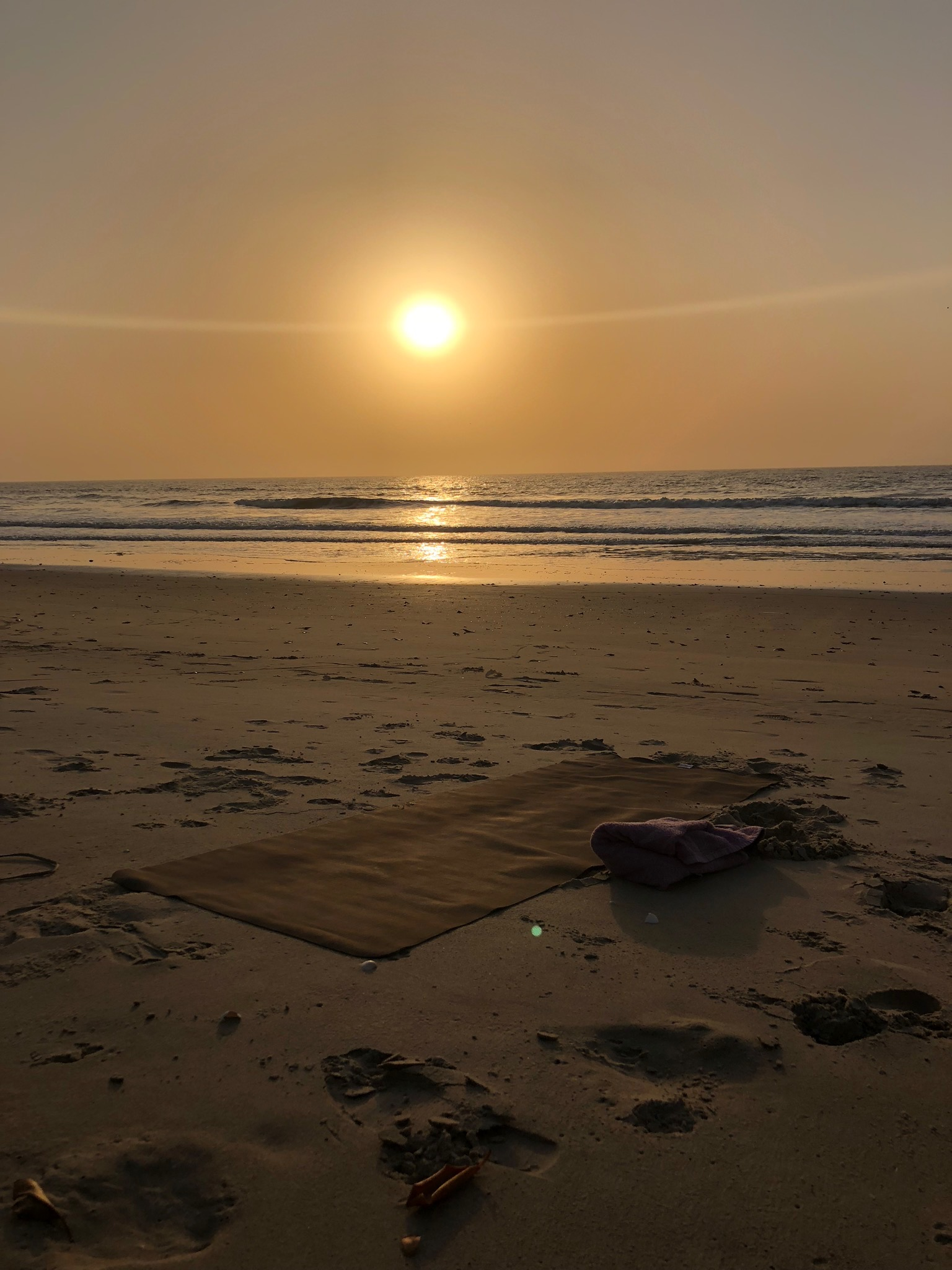 Yoga in the sunset