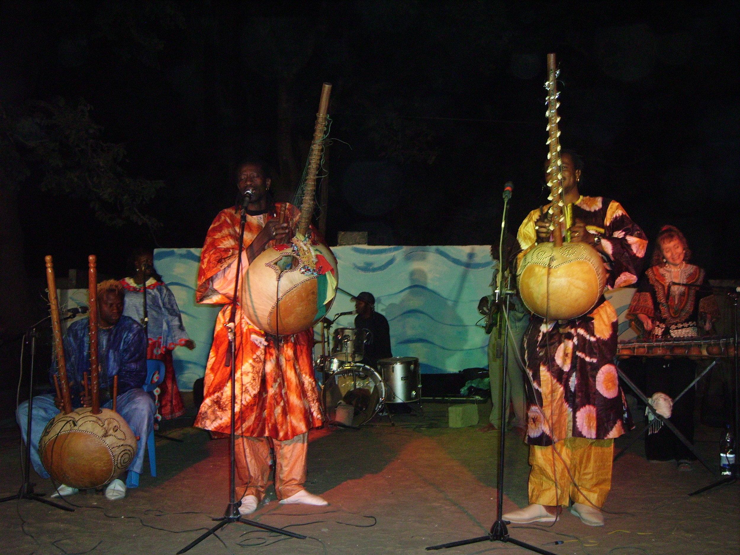 Sadio Cissokho, Solo Cissokho and Fily Cissokho performing at Abene Festival 2010.
