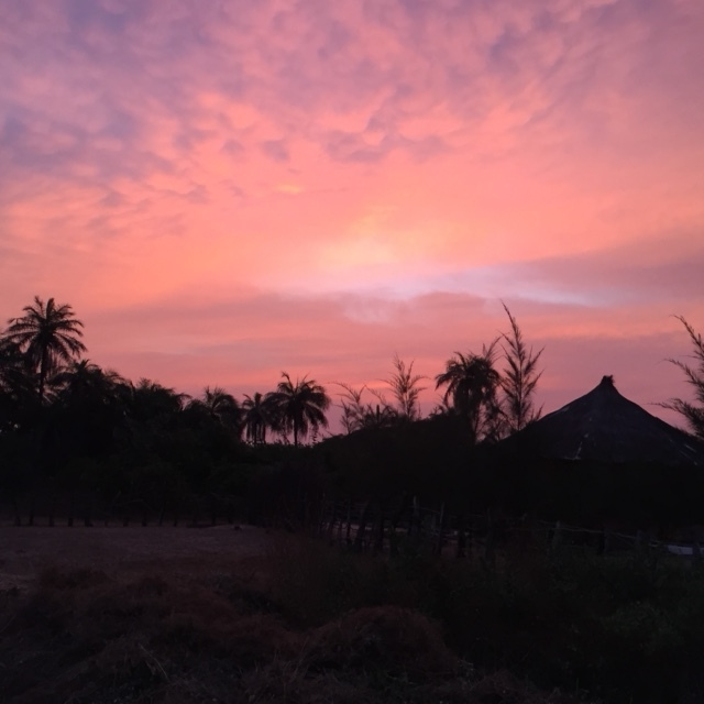Sunset over Jaliya Camp