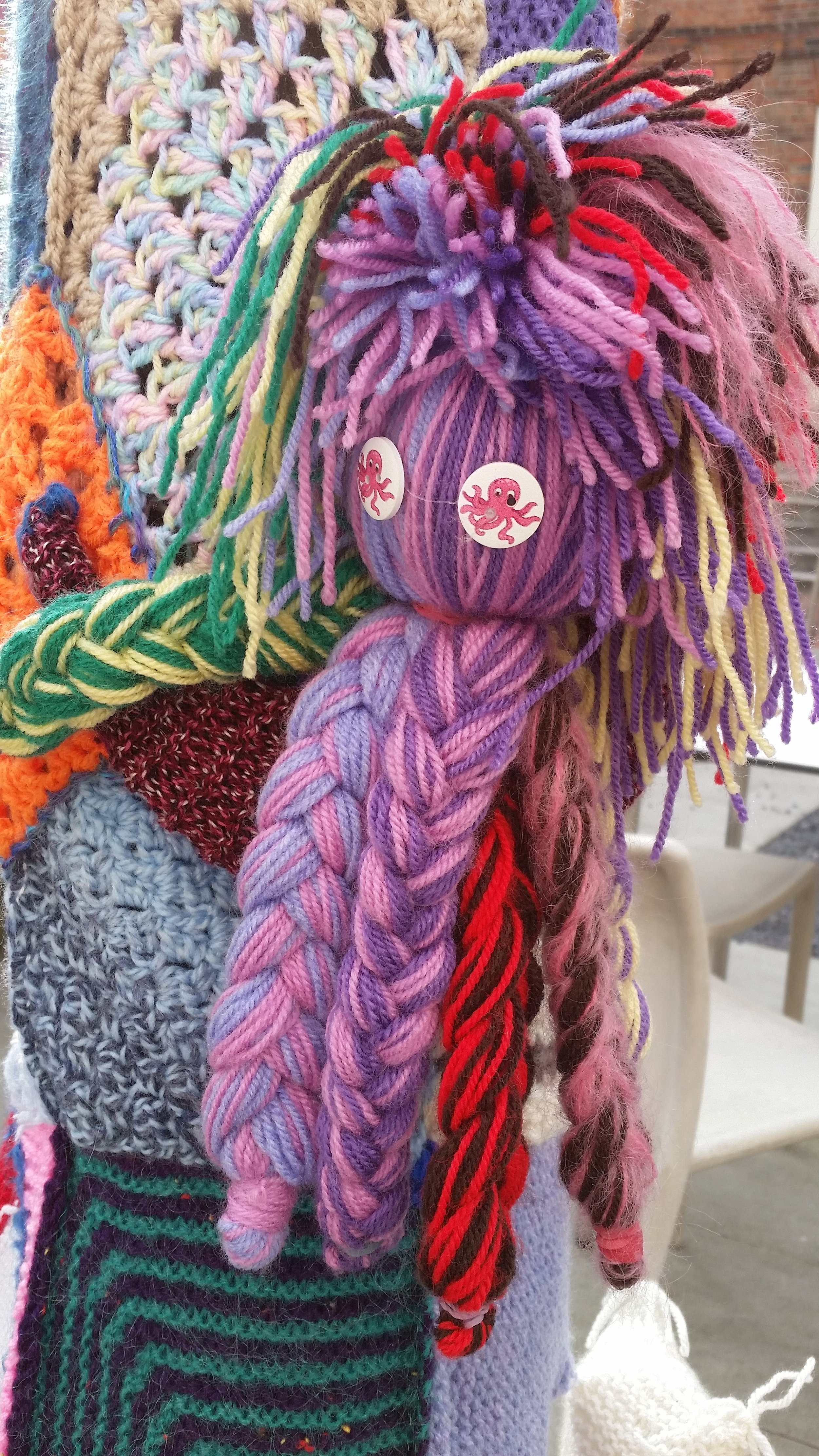 the octopus' garden - A yarn bombing of Pallant House Gallery's garden with items made by Pallant House Gallery Community Programme & Chichester Boys Club