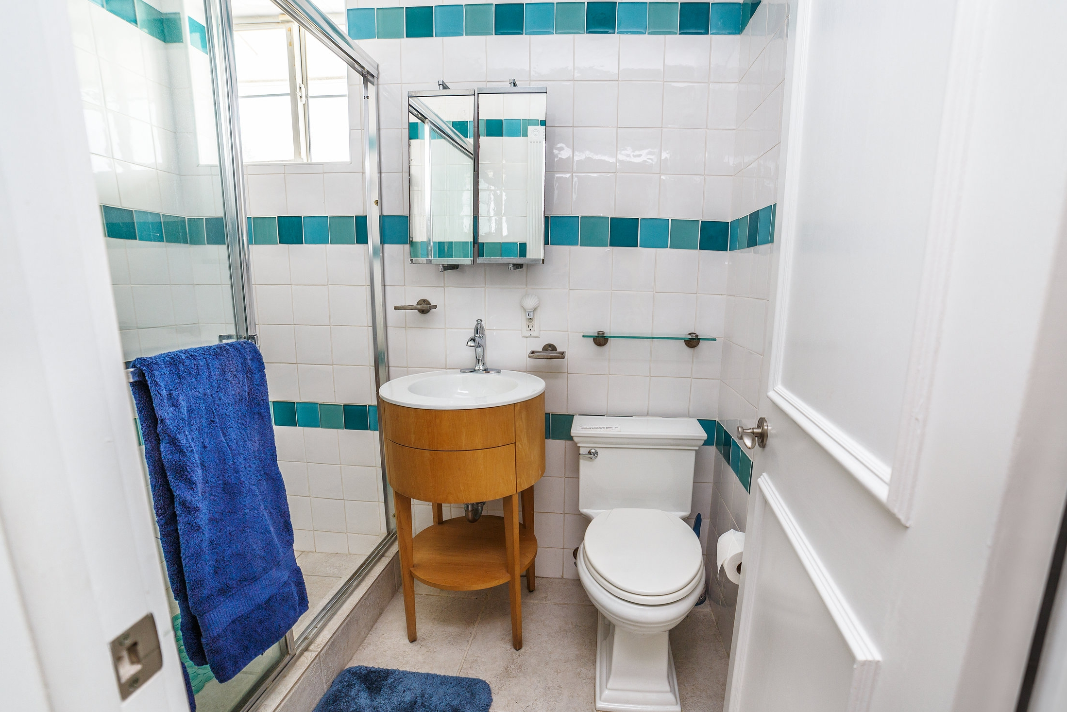 Bathroom attached to fourth bedroom