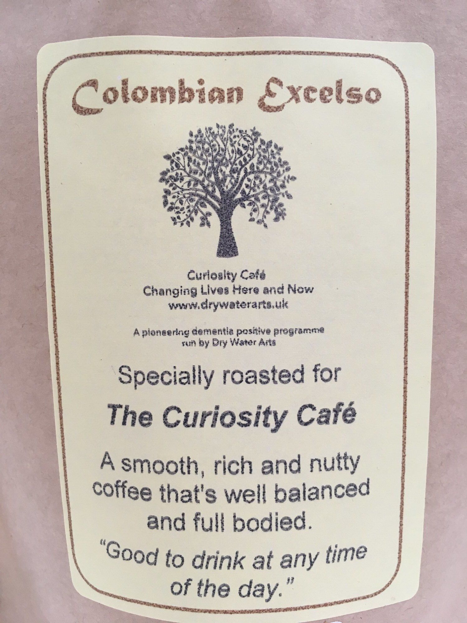Good Coffee Doing Good - Do you love good coffee?Did you know drinking coffee can make good things happen?Help to support our dementia positive programme buy buying our delicious Curiosity Coffee. A special blend roasted here in Amble by the wonderful Mocha Mondo Coffee Team.
