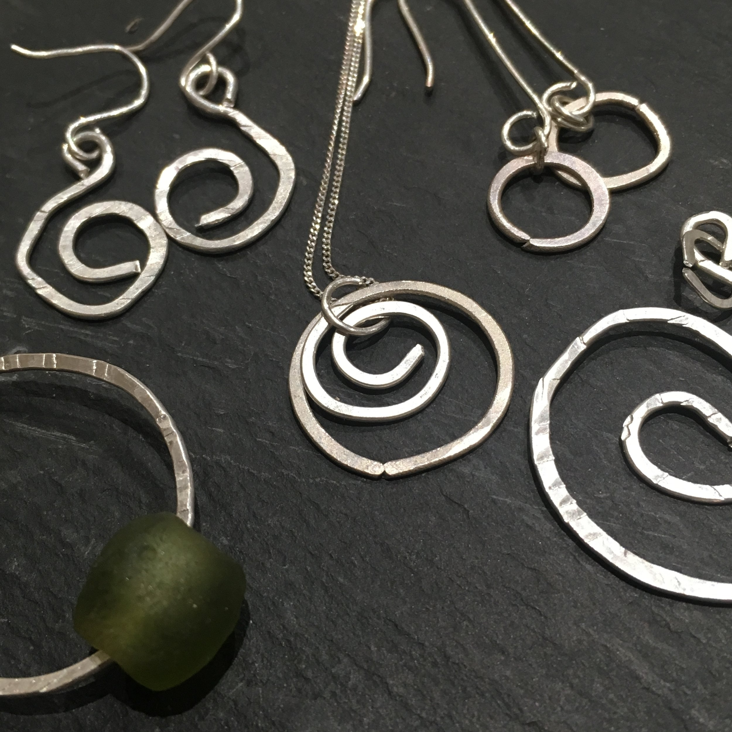 hammered silver jewellery
