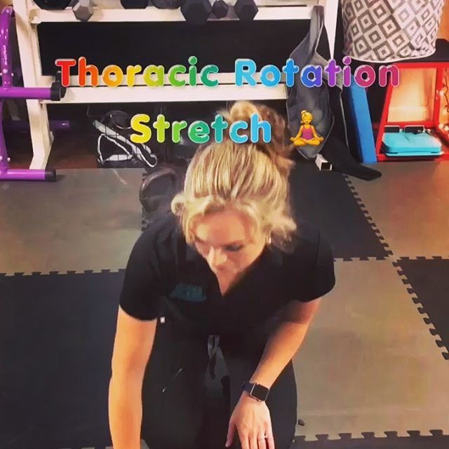 🙄It's True...we obsess over thoracic mobility just a tad! - 🖤We do it because we love you and A LOT of issues result from compensations that develop secondary to poor thoracic mobility. - ✔️It's important not only to gain more thoracic motion via prolonged stretching but to strengthen in that new range via mobility exercises. - 😎Swipe to see one of our recommend thoracic rotation strengthening exercises! - #landreneauphysio #thoracicmobility #thoracicmobilitydrills #movementismedicine #physiotherapy #physicaltherapy #mobility #injuryprevention #lowbackpain #shoulderpain #neckpain #youngsvillela #lafayettela