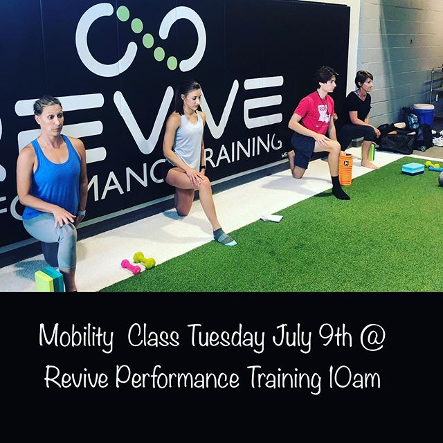 🤸♂️Mobility Class Update: Tomorrow at 10am at Revive Performance Training and Wednesday 6pm at Landreneau Physio! • 🧘♀️Classes are $10 per person! Let us know if you can make it! •  #Landreneauphysio #Mobility #injuryprevention #performanceenhancement #movebetter #getpt1st #chronicpain #flexibility #strength #performancetraining #physicaltherapy #physiotherapy #youngsvillela