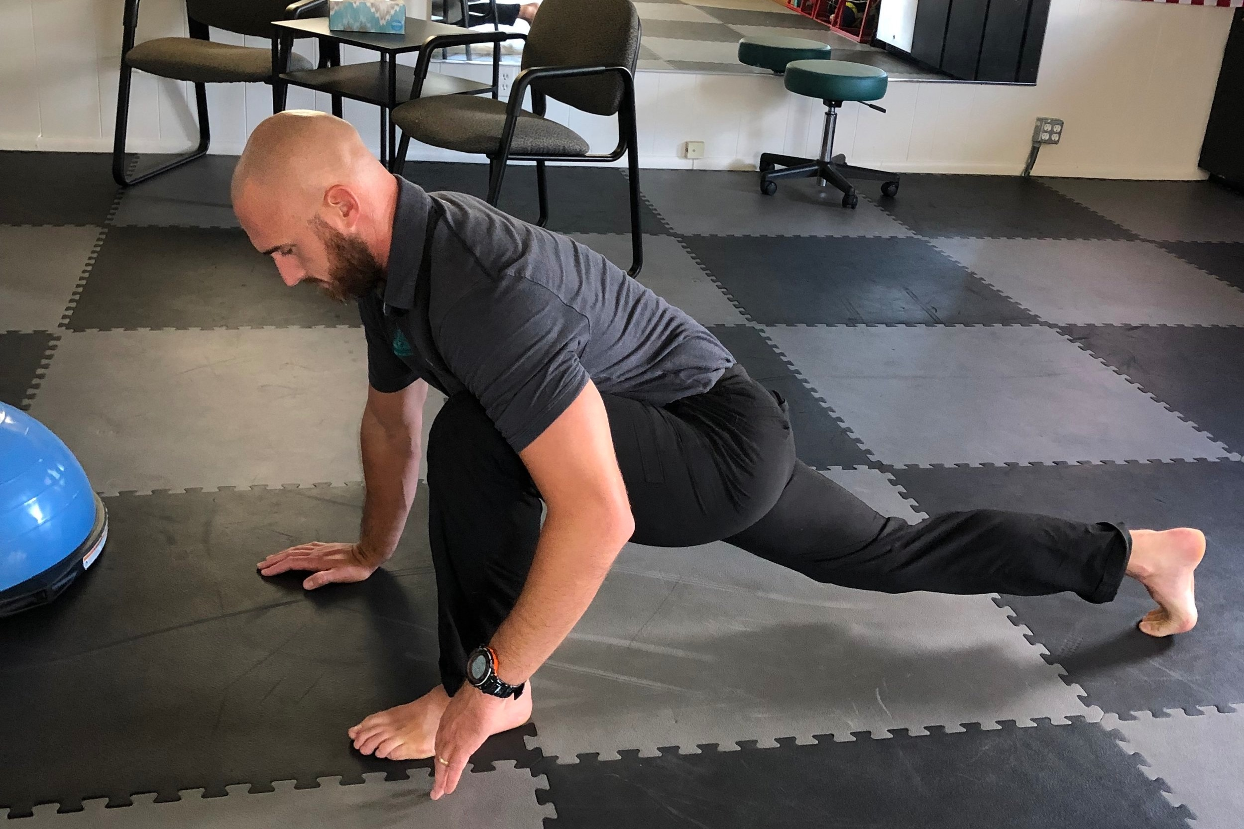 Spiderman Hip Flexor Stretch