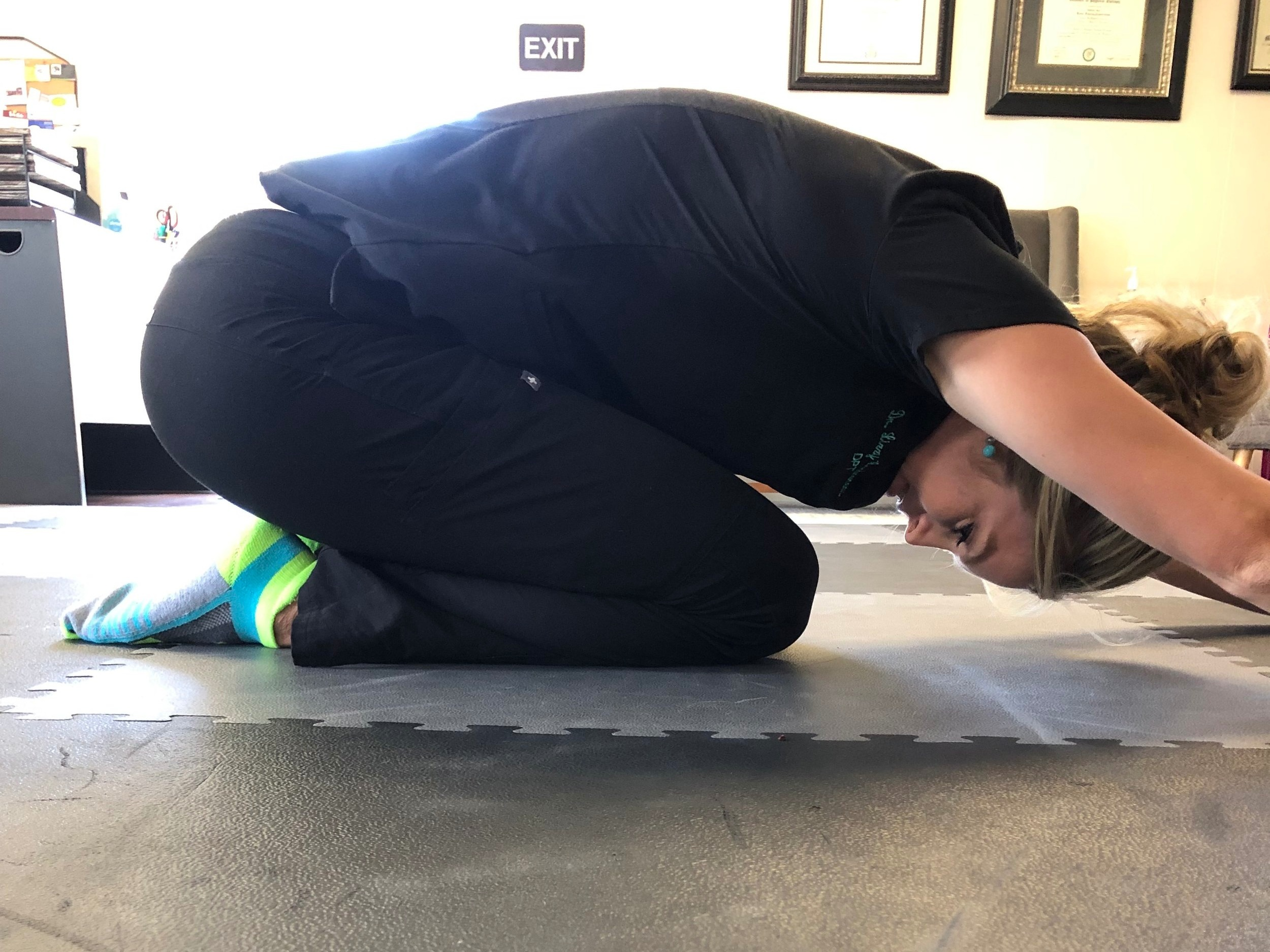 Prayer Stretch with Knee Flexion Focus