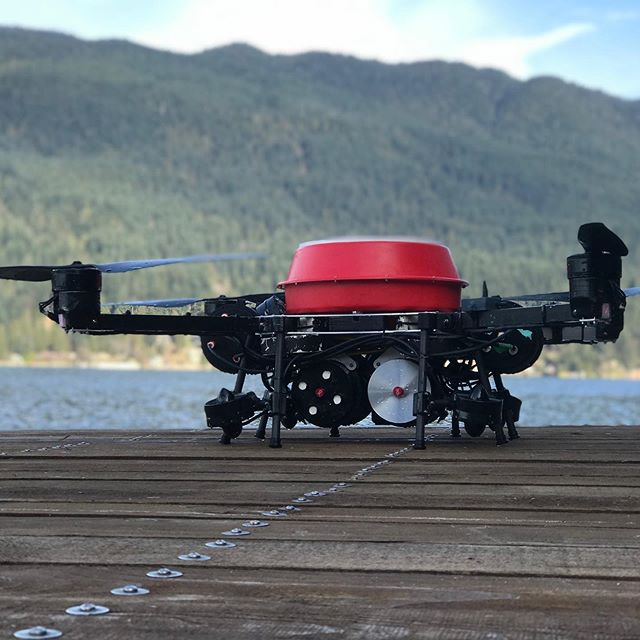 Taking in the #mountains before the big first #seawater test.  #flying #submersible #submarine #drone #drones #droneporn