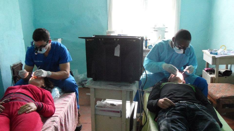 Dr. Berman on a dental mission in the Ukraine.
