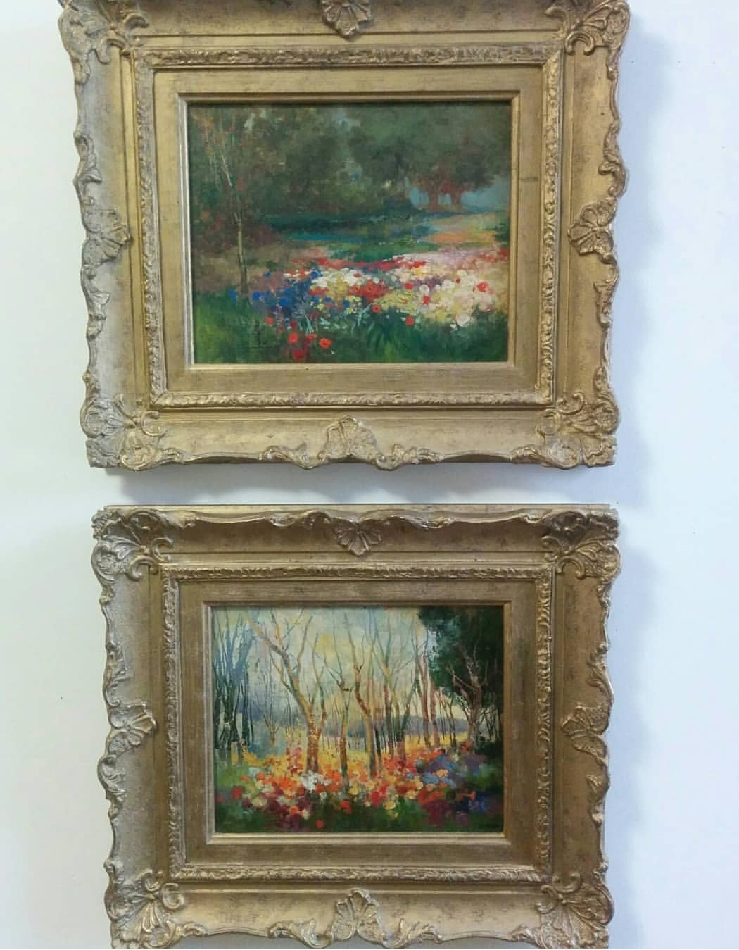 """Pair of Oil on boards 1930s-40s - Signed """"Dingli"""" on one of the two8.5"""" x 10.5"""" Frame size 16"""" x 18""""Solid wooden frames, very good condition$195.00 for the pairSOLD"""