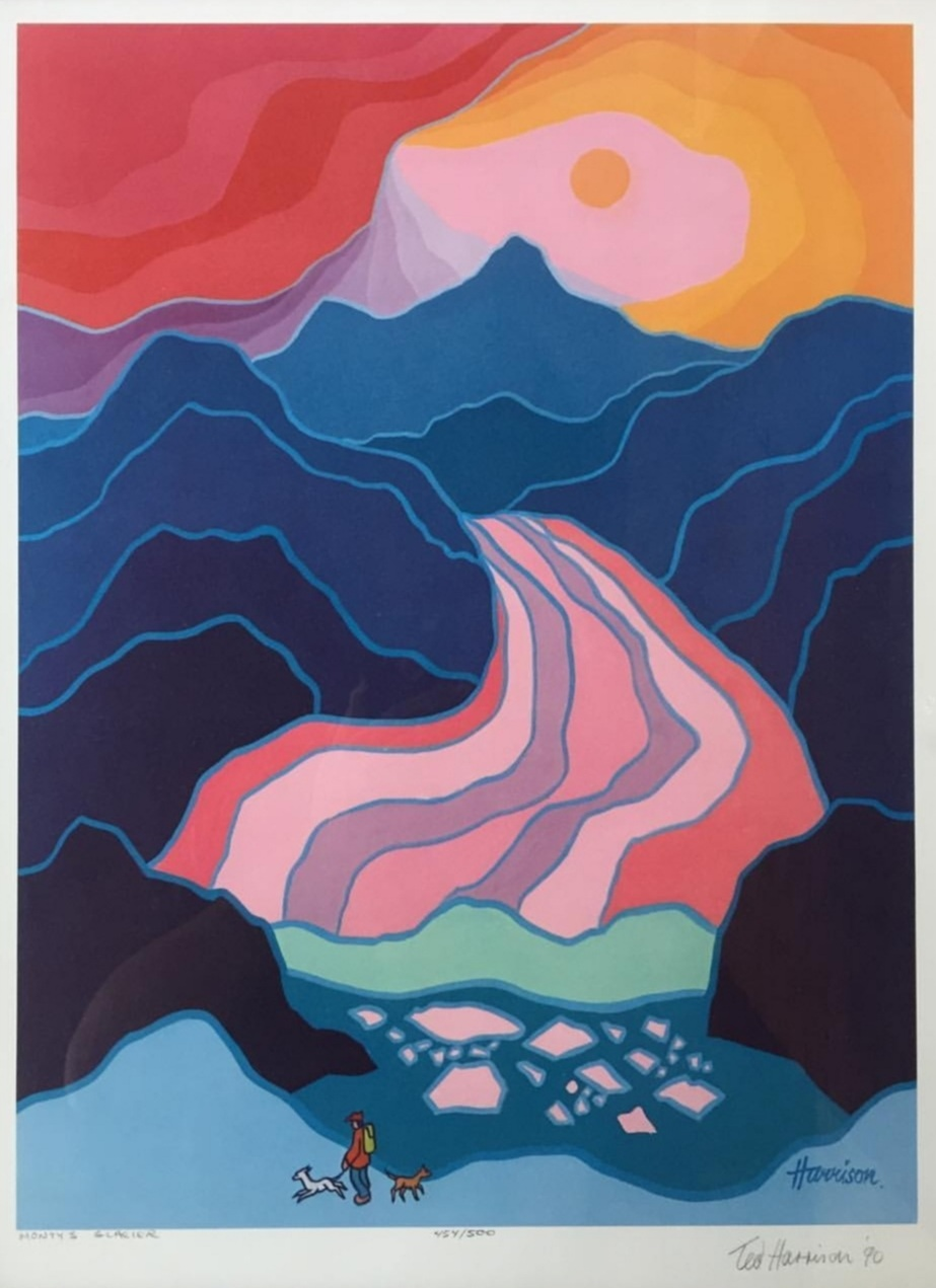 "ted harrison 'monty's glacier' 1990 - SilkscreenEdition 454/50013.35"" x 18""$375.00SOLD"