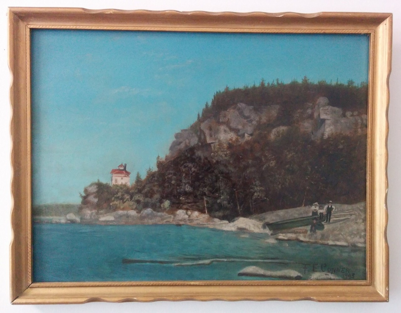 Canadian Folk oil on board - Signed F.E. Conner194311.5