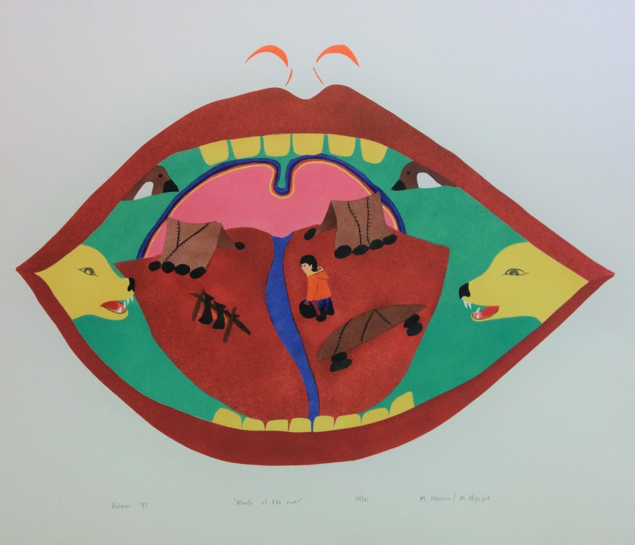 Mary Okheena'Mouth of The River' - Edition 34/45Stencil and Stonecut on paper20