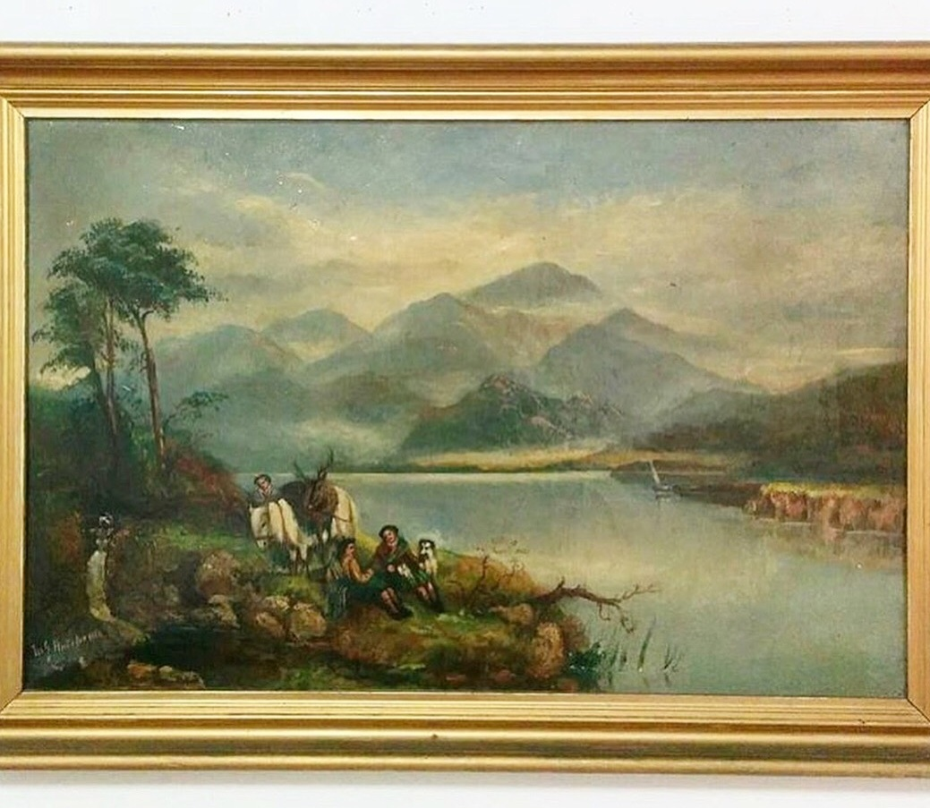 M.J. Hutcheson'After The Hunt' - 19th century British SchoolOil on canvas20