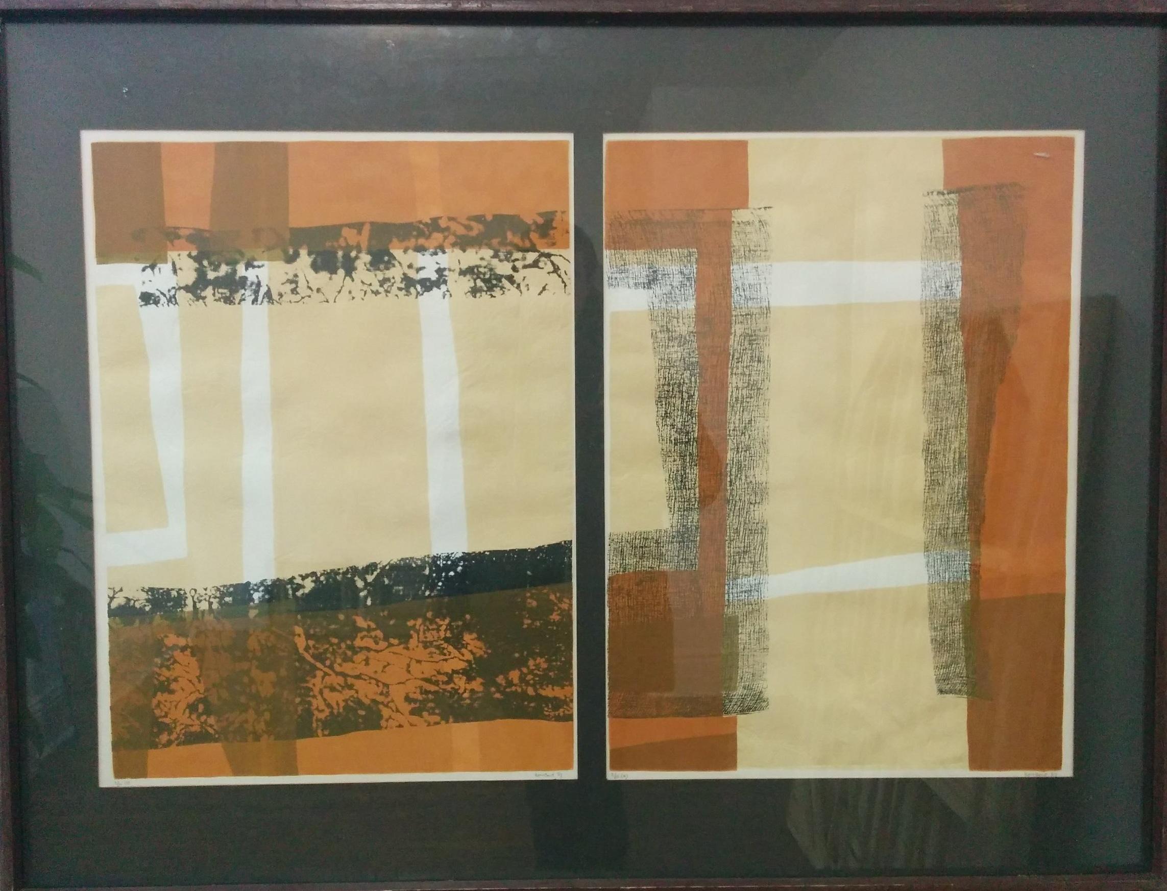 Luke Rombout - Seriagraph, 1967, diptych, each 16