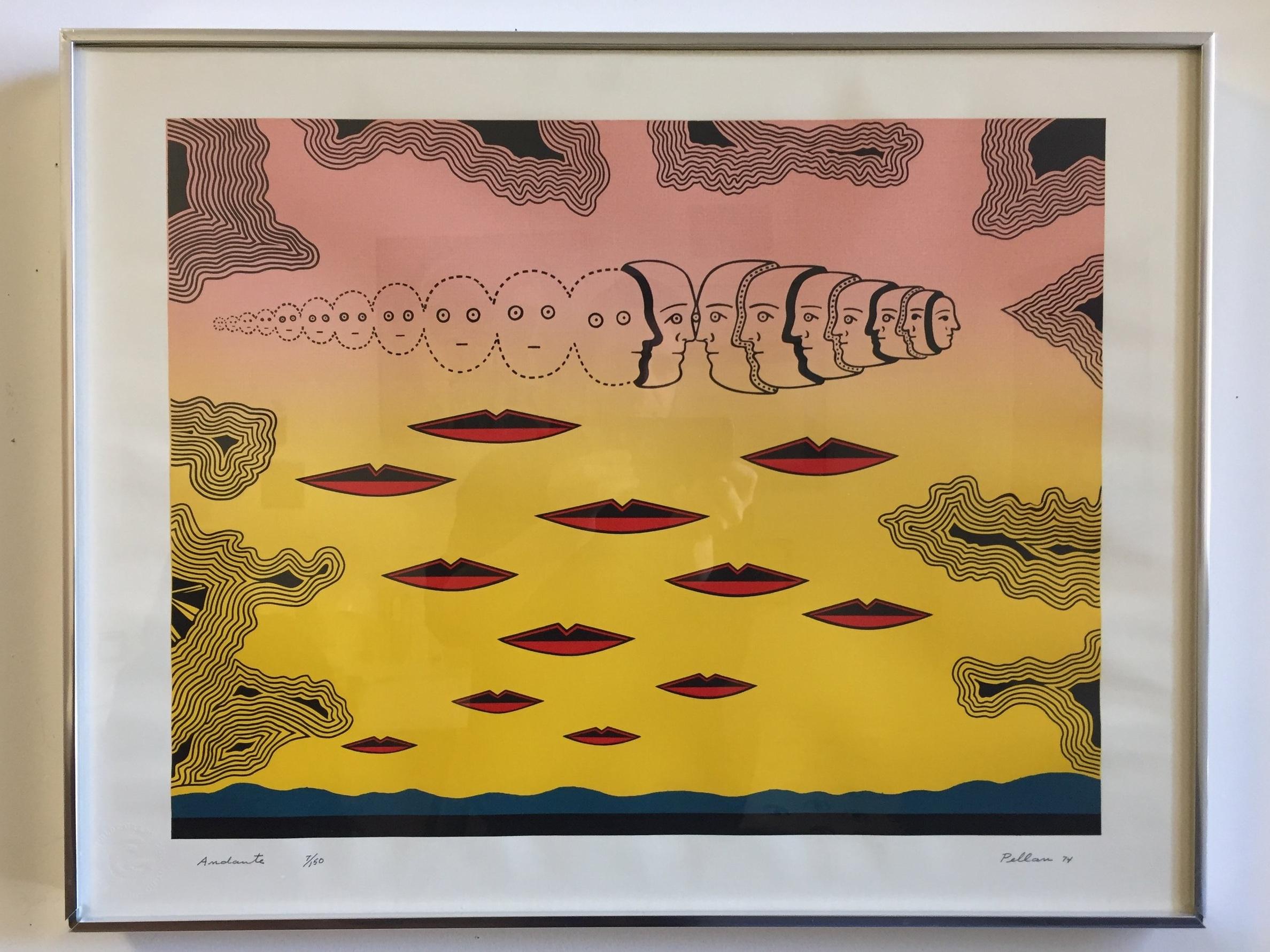 Alfred pellan (1906-1988) 'andante' - Silkscreen1970, edition 7/15020