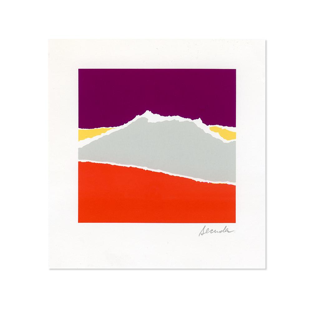 Arthur Secunda (American, 1927-) - Landscape I, circa 1985Signed silkscreen on paper, unframed 6 x 5.5 in. (15.24 cm x 13.97 cm)