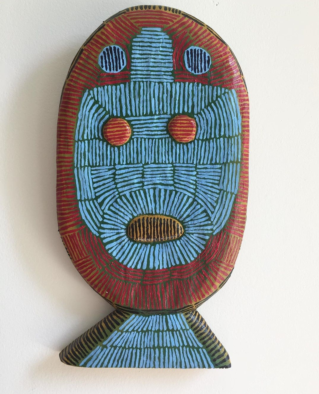 """Jonathan Petersen - 2018oil on carved wood11""""x6""""x1"""""""