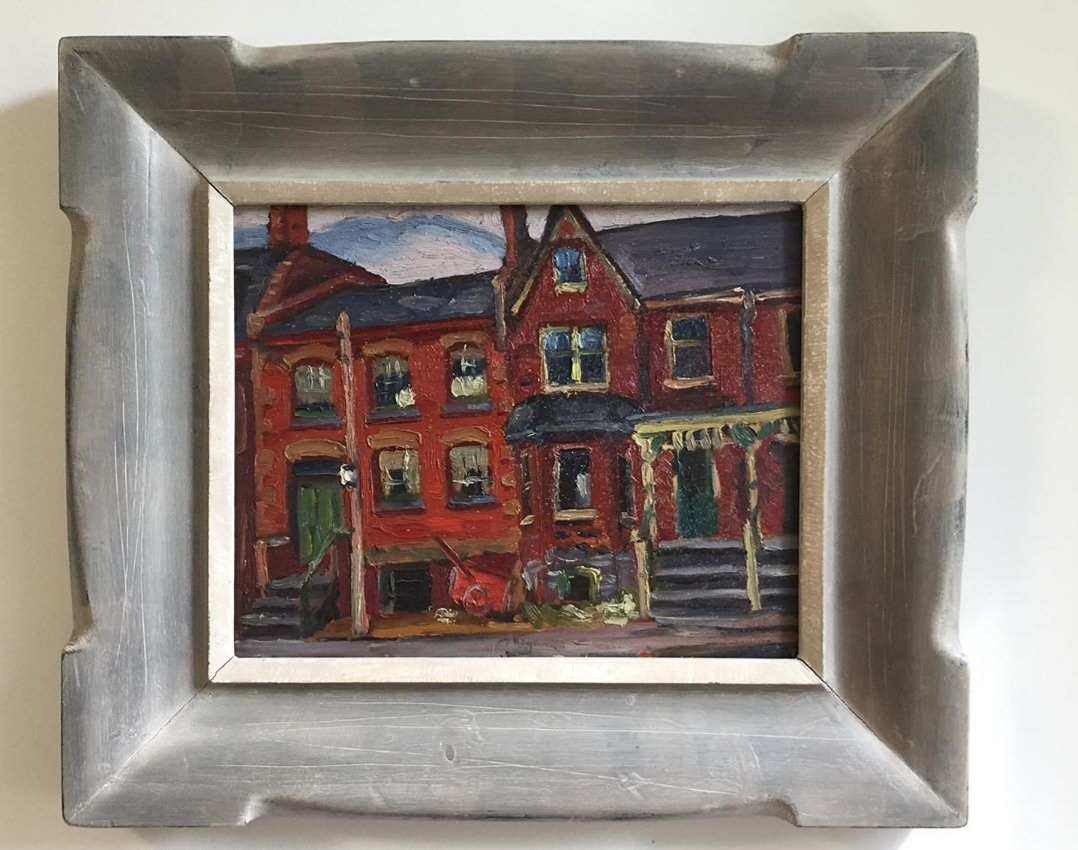 "Frederick Hagan 'houses-ontario street' - 1941oil on panel11.3""x14"""