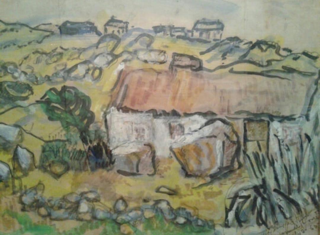 olga douglas (canadian, b. 1893) - watercolour1965