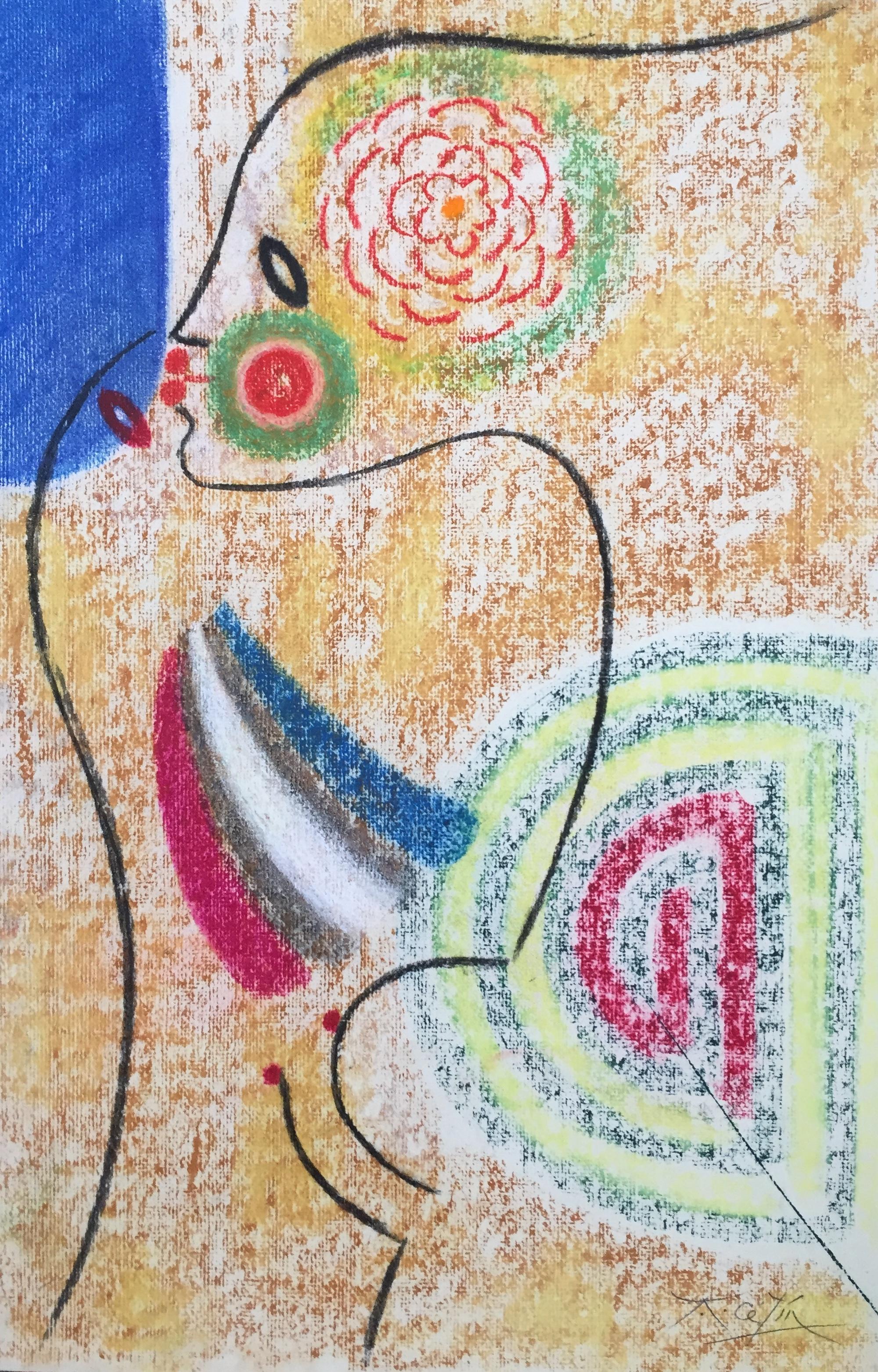 """anton cetin - pastel on paper20"""" x 12.75""""c. 1990's"""