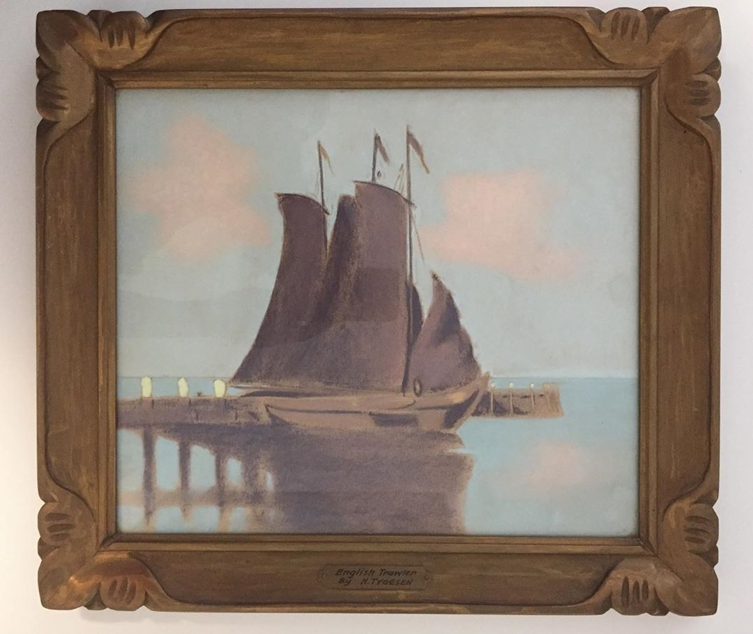 """Halfred tygesen - pastel on paper11.5"""" x 13.5""""1939artists frameinscribed on the back"""