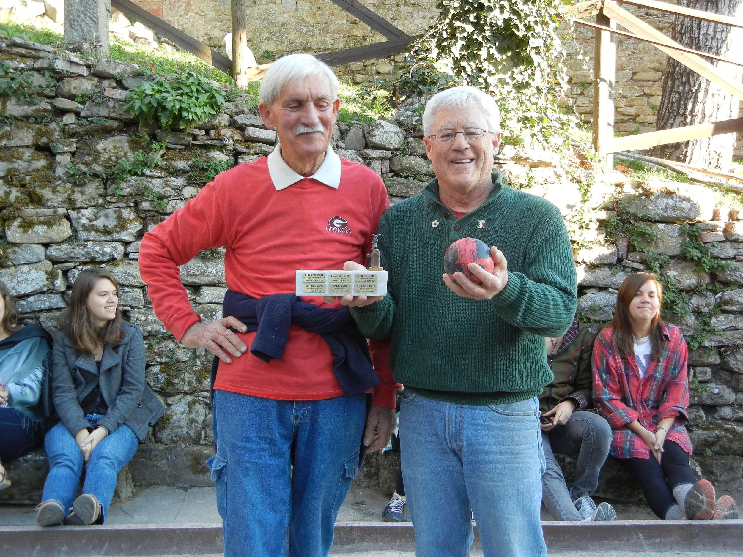 Rick and Gino in Cortona