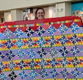 Tara Babcock machine-quilted during our first Saturday Sew-In Day on March 23, 2019.
