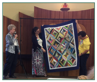 Kathy Steere's community quilt - April 2019