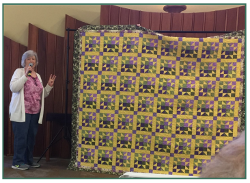 Linda Baker's community quilt - April 2019