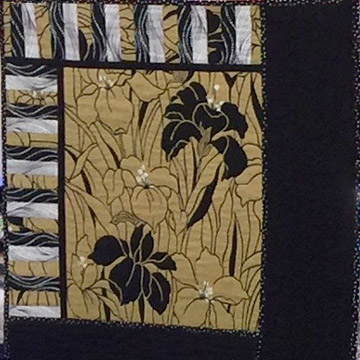 Terri Bower's 1st place quilt for the Black & White Plus One Color challenge.
