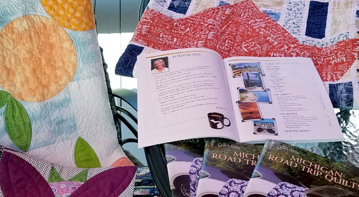 "Coleen Merte's first published book is ""Michigan Road Trip Quilts"" which is a compilation of nine quilt projects."