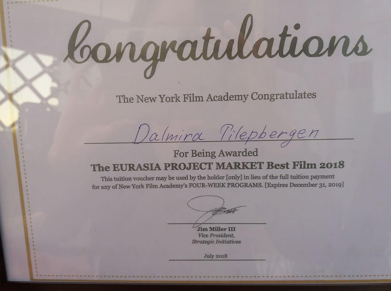 Dalmira's award