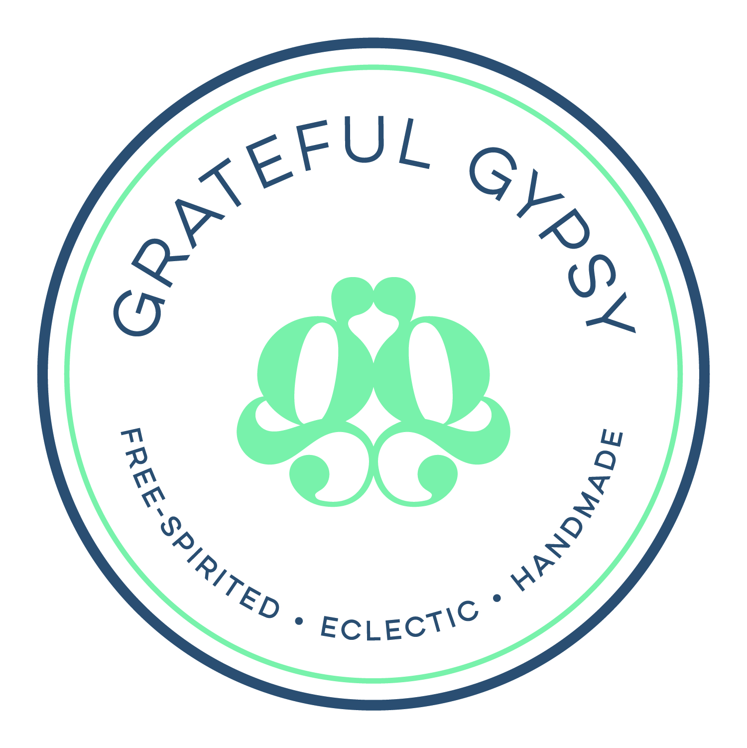 Grateful Gypsy Logo  |  Free-spirited, Eclectic, Handmade apparel with bohemian flair