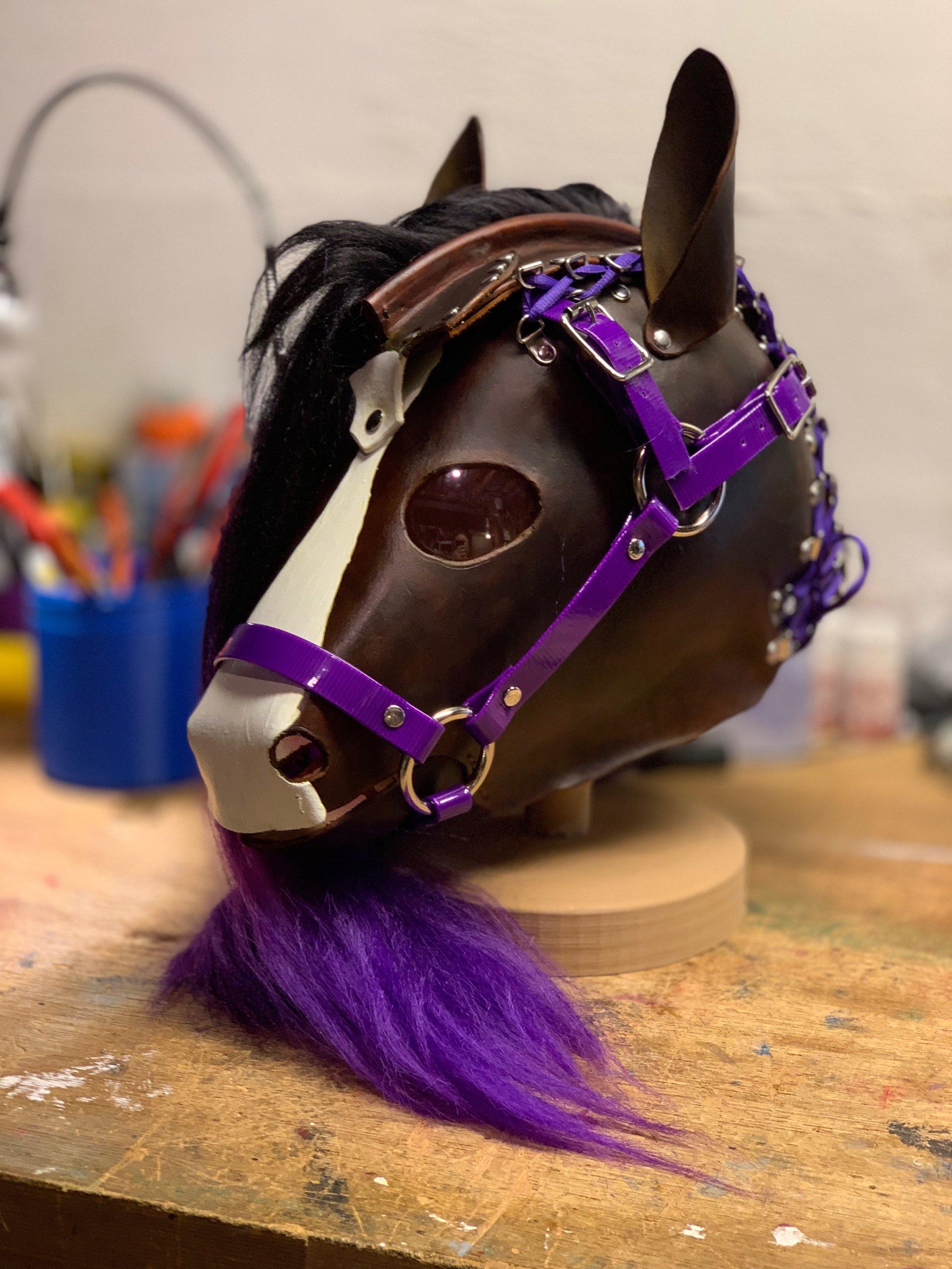 Brown and Purple Hood