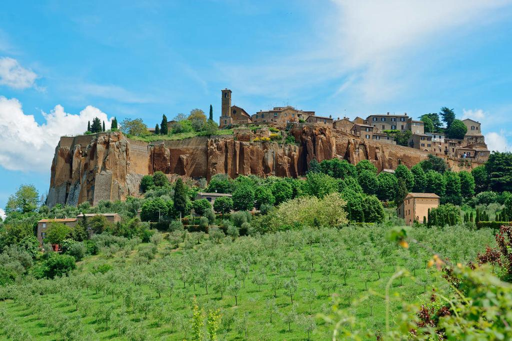 Orvieto sits perched above the Umbrian hills.