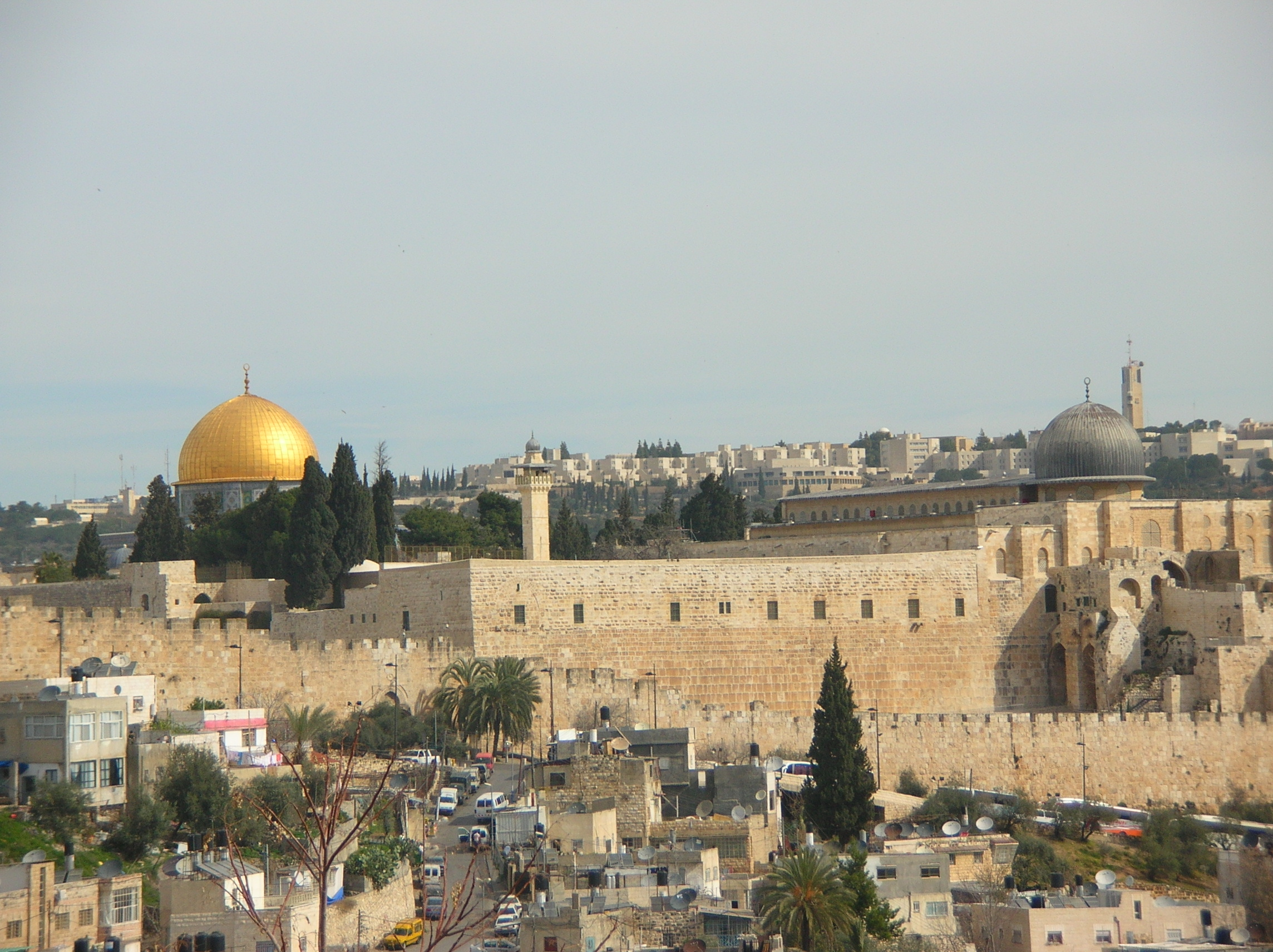 The Old City of Jerusalem is surrounded by sixteenth century walls.
