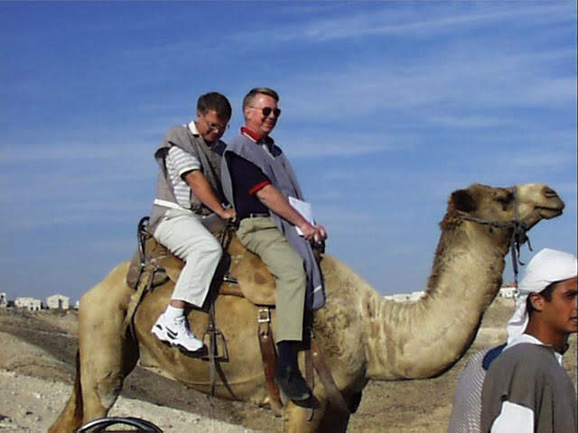 Pastor Andy's dad on a camel!