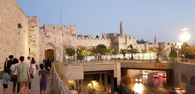 Outside Jaffa Gate in Jerusalem