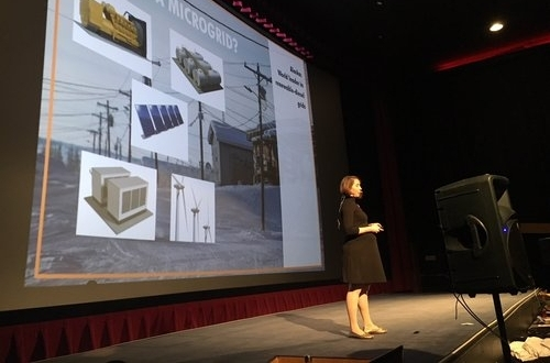 Piper Wilder pitches to potential investors on Launch Alaska's Demo Day 2017