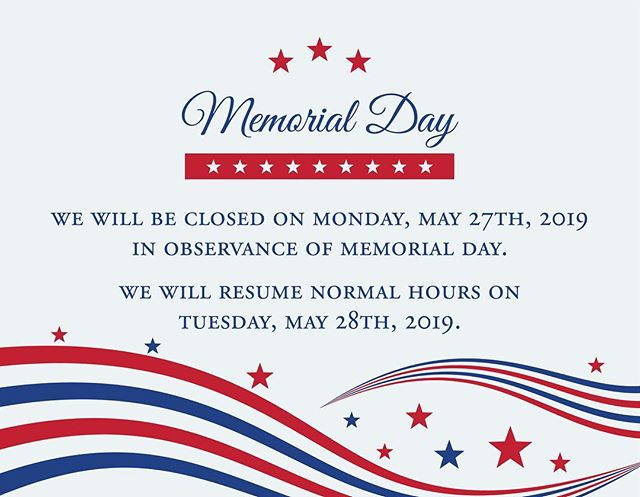 Have a wonderful Memorial Day weekend!