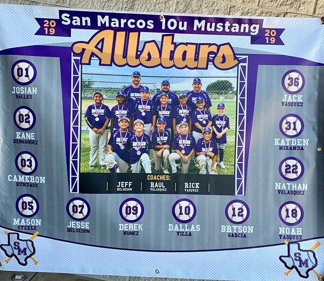 ColorMix wants to wish the San Marcos 10u Mustang Allstars good luck at their tournament this weekend!