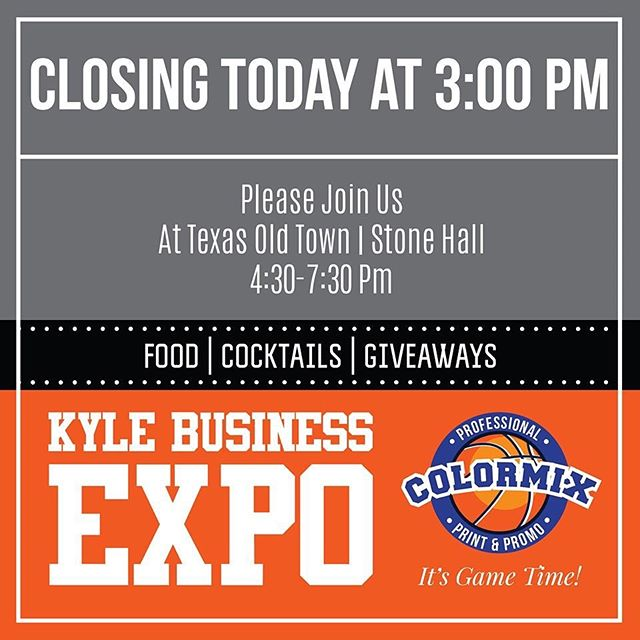 Join us today, June 13, 2019 at Kyle's Business Expo. It's open to the public! There will be free food, cocktails, and giveaways! The event is at Texas Old Town | Stone Hall from 4:30-7:30 pm. 🏀