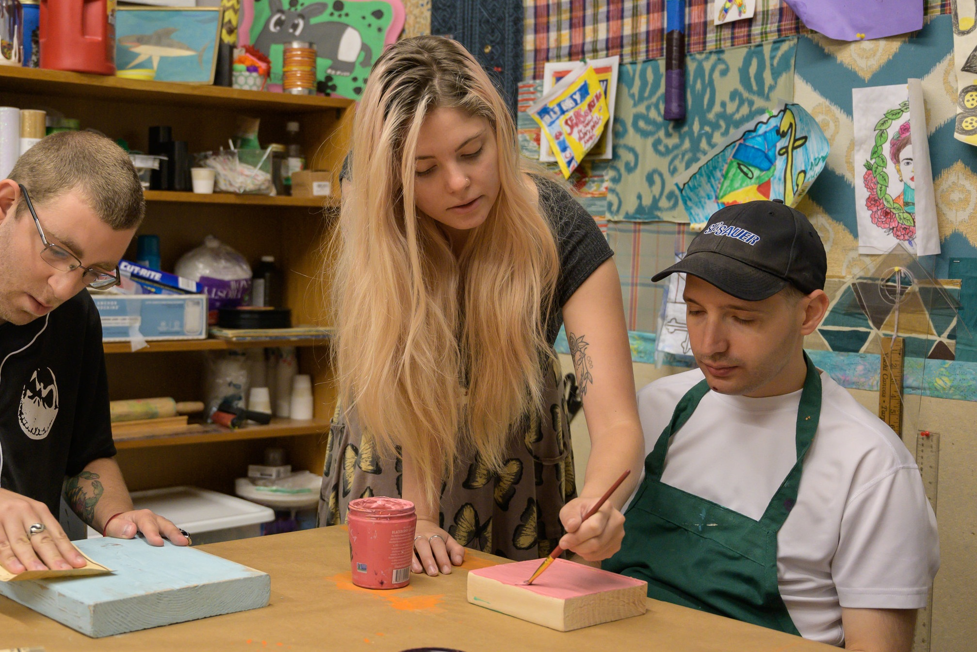 Drew Putzel Creative Arts Program - The Drew Putzel Creative Arts Program uses art as a therapeutic and creative outlet for our clients, and provides them an opportunity to have their own microbusinesses.
